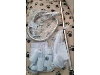 Shower Head, Hose & Wall Fixing KIt for a Triton Cara 8.5kW Electric Shower, White