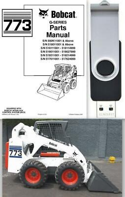 Bobcat 773 G-series Skid Steer Loader Parts Manual Usb Flash Drive Pn 6900939