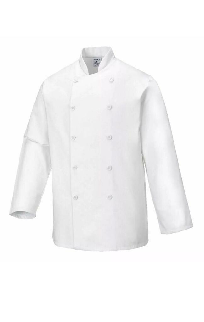 Portwest Sussex Chefs Jacket Food Industry Cooking Catering Kitchen C836