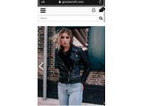 Goosecraft Genuine Leather Jacket - S/M