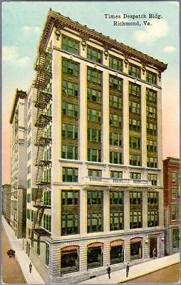 Photo  Ca 1918  Richmond  Virginia   Times Despatch  Sic  Building