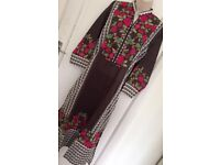 Khadi,agha noor,size 12,14,Pakistani kurti,lawn suits,wedding wear,mehndi,tunic,top