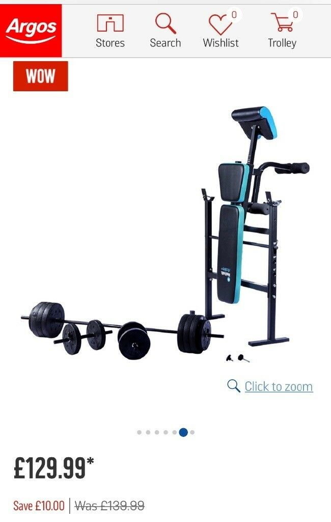 Men's Weight Bench And Weights