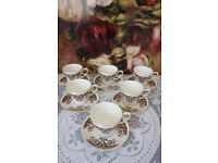 """Vintage Colclough """"Royale"""" China Tea Cups and Saucers for 6 (12 pieces)"""