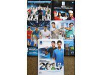 Tennis Programmes - Wimbledon, US Open, ATP Finals and more. £1 each