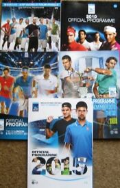 Tennis Programmes - Wimbledon, US Open, ATP Finals and more. £1 each