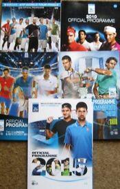 Tennis Programmes - Wimbledon, ATP Finals and more. £1 each
