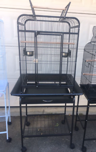 Brand New Open Roof Bird Cage on Trolley & Seed Catcher - Eftpos