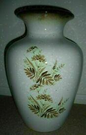 Antique Mid Century Retro Scheurich Keramik 1950's Vase Floral Pattern Handmade German Pottery VGC