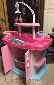 Doll play changing table / cupboard / highchair