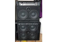 Gallien Krueger Bass Amplifier Set - 1001RB(MKII)210 Combo & 410RBH Cab - With Covers. Hardly Used!