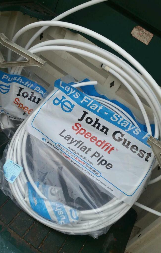 John guest speedfit lay flat poly pipe 15mm & 22m