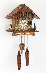 Original German Black Forest, hand carved cuckoo clock, Battery driven. New.