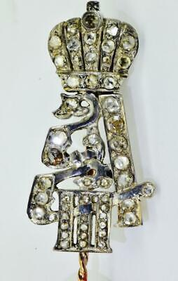Imperial Russian Faberge 14k gold&Diamonds award Alexander III Cypher pin brooch for sale  Shipping to United States