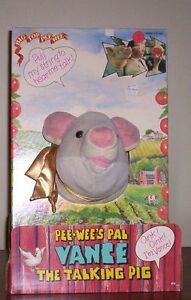 VANCE THE TALKING PIG pee wee herman 1988 MATCHBOX TOY in box
