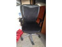 office chair swivel faux leather on wheel