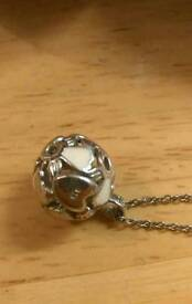 Stirling silver sphere of life necklace