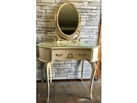 Vintage French fancy dressing table & mirror