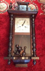 Antique Wall Clock with Key