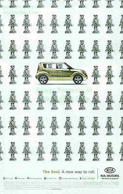 KIA Motors: The Soul: A new way to roll: Robots: Great Original Print Ad!