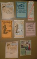 vintage French (1920's-30's) Rx fish oil labels -lot of 8