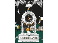 Juniper Manor - 2 x tickets Friday 17th @5pm