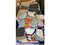 Lots of baby boy clothes (newborn to 18 months)