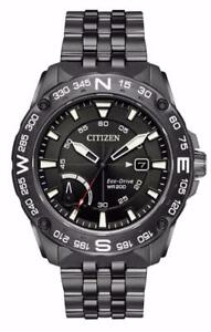 Citizen AW7047-54H Men's Eco-Drive Black Dial Compass Stainless Steel Watch