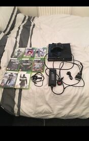 XBox 360 with wireless headset & games!