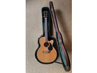 Legacy Artist Series Electro Acoustic Guitar with Jack, XLR, Inbuilt EQ & Tuner. Case Included.