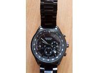 Sekonda Men's Black Chronograph Bracelet Watch - Water resistant 50m, excellent condition