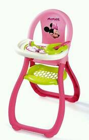 Minnie mouse toy high chair