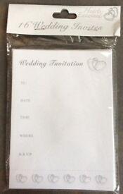 Joblot of prepacked wedding invitations 100 x 16 packs + envelopes