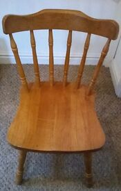 Solid pine table chair