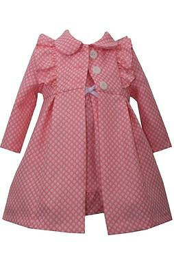 Pink Dress Coat - Bonnie Jean Girls Baby Pink Dress and Coat Set Spring Easter 2 Pc Set New