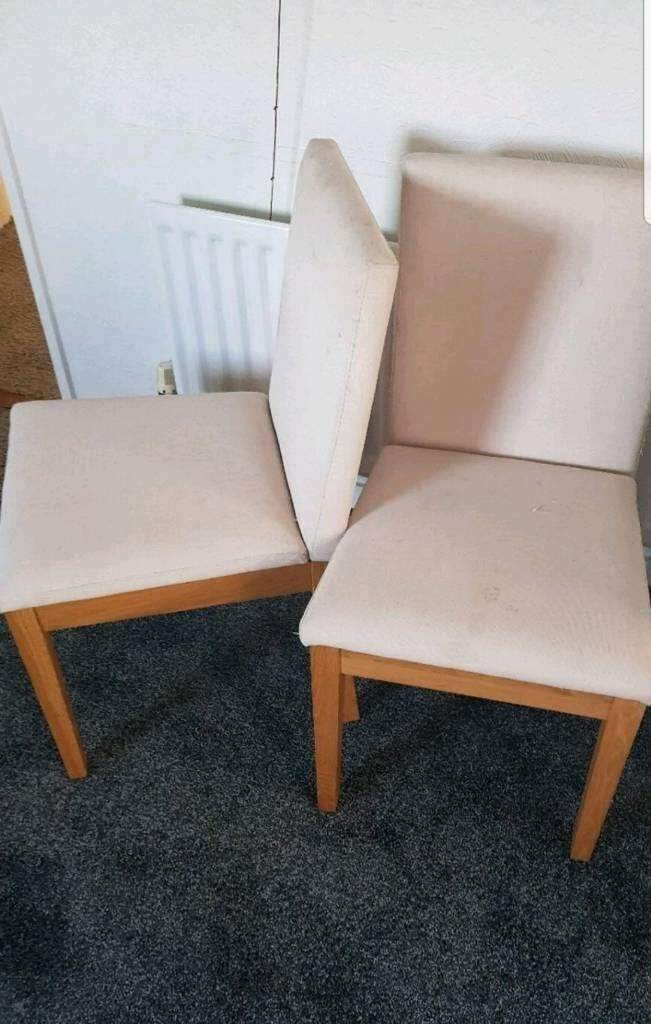 Nice Comfy Sturdy Dining Room Chairs X2 Can Deliver Locally For 5