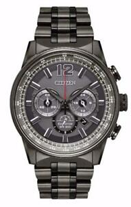 Citizen CA4377-53H Men's Eco-Drive Navihawk Stainless Steel Chronograph Watch