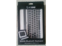 New Unused iPad Bluetooth Keyboard Case Stand