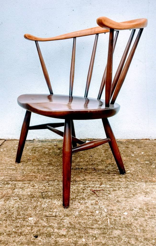 Ercol Cowhorn Fireside Chair Vintage Retro Mid Century - Delivery Available