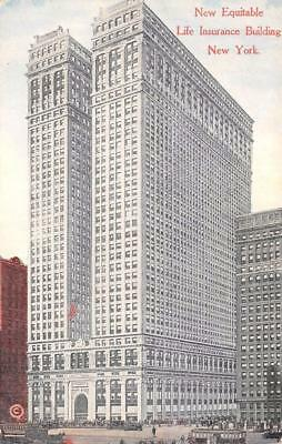 Ny  New York     New Equitable Life Insurance Building      C1910s Postcard