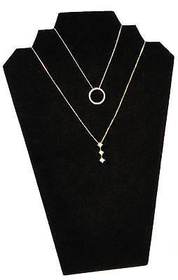 1 Black 13 Velvet Necklace Pendant Jewelry Displays