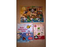 Kids Toys: Book with Helicopter, Pirate Puzzle, & Rhyming Game