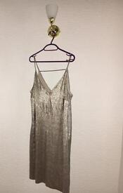 River Island Gold Dress Size 12
