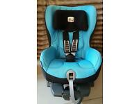 Britax Romer Safefix plus group 1 blue car seat with Isofix