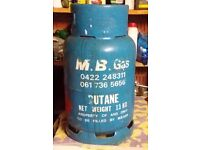 13kg Butane Gas Canister Bottle Nearly Full By M.B. Gas