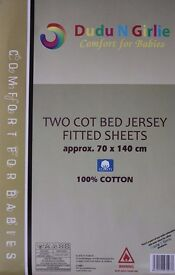 2 brand new unused cot sheets - still in packaging £5 (Finchley)