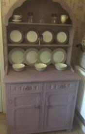 Hand Painted Pine Welsh Dresser