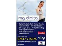 Cheap digital aerial installations/repairs in Glasgow - 5 star reviews on Google and Free Index