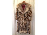 1970 Ocelot fur coat with Lynx trim