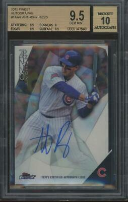 2015 Topps Finest Anthony Rizzo Gem Mint BGS/BAS Beckett 9.5 10 Auto